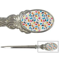 Funny Cute Colorful Cats Pattern Letter Opener