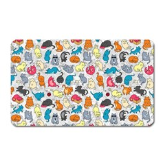 Funny Cute Colorful Cats Pattern Magnet (rectangular)