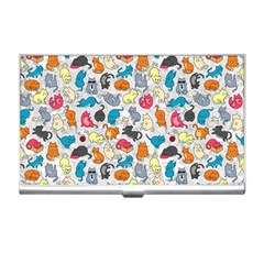 Funny Cute Colorful Cats Pattern Business Card Holders