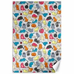Funny Cute Colorful Cats Pattern Canvas 20  X 30