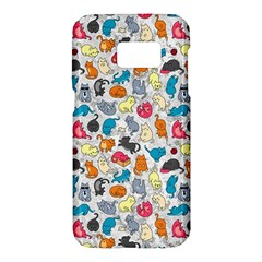 Funny Cute Colorful Cats Pattern Samsung Galaxy S7 Hardshell Case