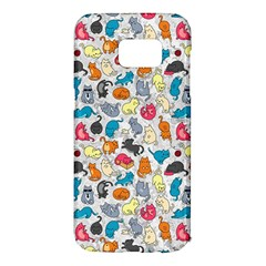 Funny Cute Colorful Cats Pattern Samsung Galaxy S7 Edge Hardshell Case