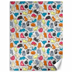 Funny Cute Colorful Cats Pattern Canvas 36  X 48