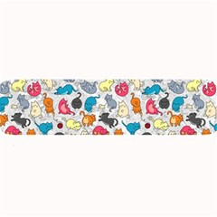 Funny Cute Colorful Cats Pattern Large Bar Mats