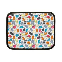 Funny Cute Colorful Cats Pattern Netbook Case (small)