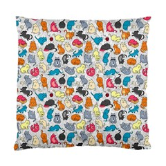 Funny Cute Colorful Cats Pattern Standard Cushion Case (one Side)