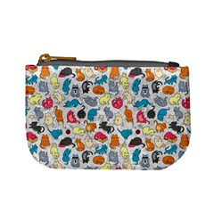 Funny Cute Colorful Cats Pattern Mini Coin Purses