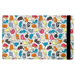 Funny Cute Colorful Cats Pattern Apple Ipad Pro 12 9   Flip Case