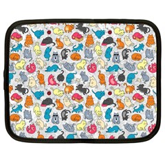 Funny Cute Colorful Cats Pattern Netbook Case (xl)