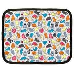 Funny Cute Colorful Cats Pattern Netbook Case (xxl)