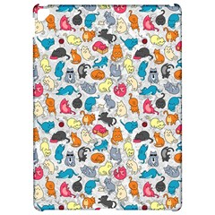 Funny Cute Colorful Cats Pattern Apple Ipad Pro 12 9   Hardshell Case
