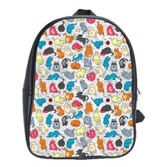 Funny Cute Colorful Cats Pattern School Bag (large)