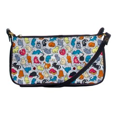 Funny Cute Colorful Cats Pattern Shoulder Clutch Bags