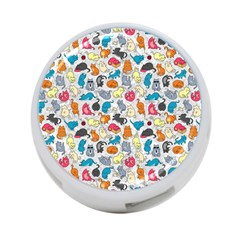 Funny Cute Colorful Cats Pattern 4 Port Usb Hub (one Side)