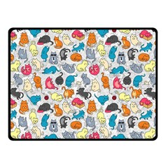 Funny Cute Colorful Cats Pattern Fleece Blanket (small)