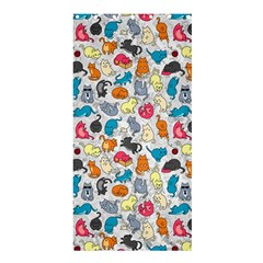 Funny Cute Colorful Cats Pattern Shower Curtain 36  X 72  (stall)
