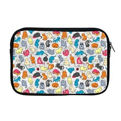Funny Cute Colorful Cats Pattern Apple Macbook Pro 17  Zipper Case