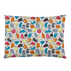 Funny Cute Colorful Cats Pattern Pillow Case (two Sides)