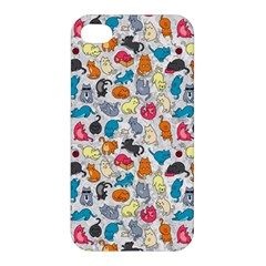 Funny Cute Colorful Cats Pattern Apple Iphone 4/4s Hardshell Case