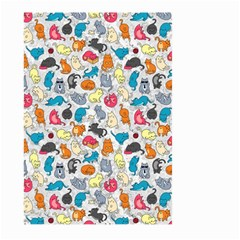 Funny Cute Colorful Cats Pattern Large Garden Flag (two Sides) by EDDArt