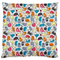 Funny Cute Colorful Cats Pattern Large Cushion Case (one Side) by EDDArt