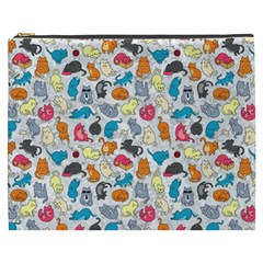 Funny Cute Colorful Cats Pattern Cosmetic Bag (xxxl)