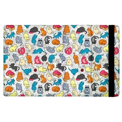 Funny Cute Colorful Cats Pattern Apple Ipad 2 Flip Case by EDDArt