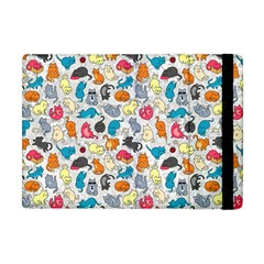 Funny Cute Colorful Cats Pattern Apple Ipad Mini Flip Case
