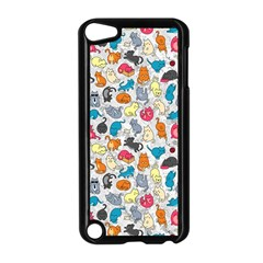 Funny Cute Colorful Cats Pattern Apple Ipod Touch 5 Case (black)