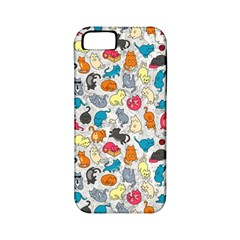 Funny Cute Colorful Cats Pattern Apple Iphone 5 Classic Hardshell Case (pc+silicone)