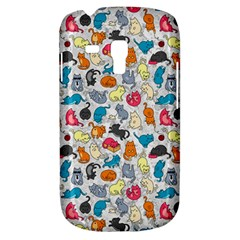 Funny Cute Colorful Cats Pattern Samsung Galaxy S3 Mini I8190 Hardshell Case