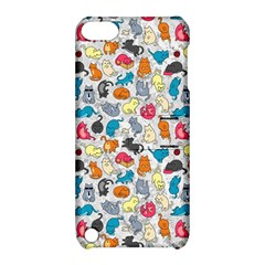 Funny Cute Colorful Cats Pattern Apple Ipod Touch 5 Hardshell Case With Stand