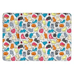Funny Cute Colorful Cats Pattern Samsung Galaxy Tab 8 9  P7300 Flip Case