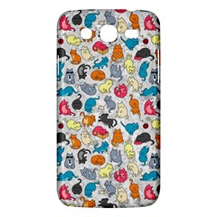 Funny Cute Colorful Cats Pattern Samsung Galaxy Mega 5 8 I9152 Hardshell Case  by EDDArt