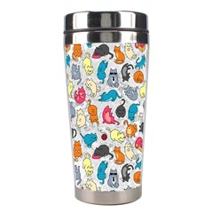 Funny Cute Colorful Cats Pattern Stainless Steel Travel Tumblers