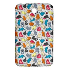 Funny Cute Colorful Cats Pattern Samsung Galaxy Tab 3 (7 ) P3200 Hardshell Case