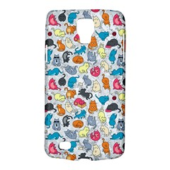 Funny Cute Colorful Cats Pattern Samsung Galaxy S4 Active (i9295) Hardshell Case