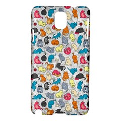 Funny Cute Colorful Cats Pattern Samsung Galaxy Note 3 N9005 Hardshell Case