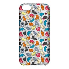 Funny Cute Colorful Cats Pattern Apple Iphone 5c Hardshell Case