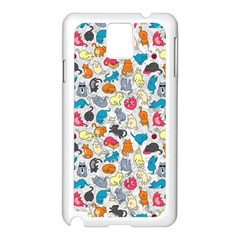 Funny Cute Colorful Cats Pattern Samsung Galaxy Note 3 N9005 Case (white)