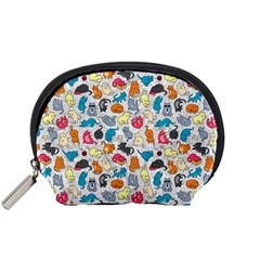 Funny Cute Colorful Cats Pattern Accessory Pouches (small)
