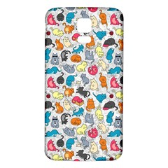 Funny Cute Colorful Cats Pattern Samsung Galaxy S5 Back Case (white)