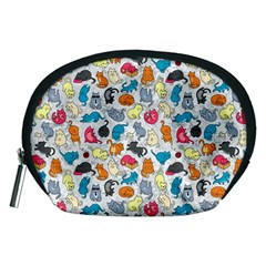 Funny Cute Colorful Cats Pattern Accessory Pouches (medium)