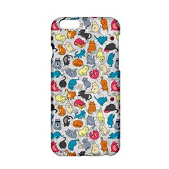 Funny Cute Colorful Cats Pattern Apple Iphone 6/6s Hardshell Case by EDDArt