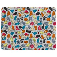 Funny Cute Colorful Cats Pattern Jigsaw Puzzle Photo Stand (rectangular)