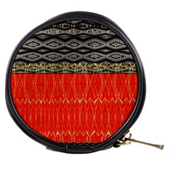 Creative Red And Black Geometric Design  Mini Makeup Bags by flipstylezdes