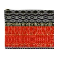 Creative Red And Black Geometric Design  Cosmetic Bag (xl)