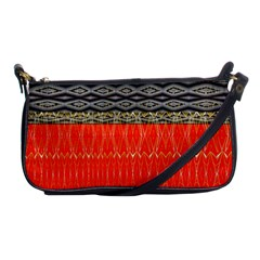 Creative Red And Black Geometric Design  Shoulder Clutch Bags by flipstylezdes