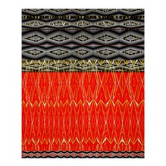 Creative Red And Black Geometric Design  Shower Curtain 60  X 72  (medium)  by flipstylezdes
