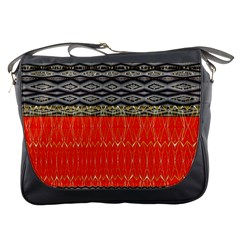 Creative Red And Black Geometric Design  Messenger Bags by flipstylezdes